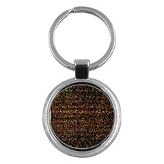Pixel Pattern Colorful And Glowing Pixelated Key Chains (round)  by Simbadda