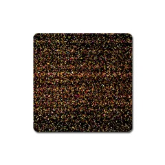 Pixel Pattern Colorful And Glowing Pixelated Square Magnet by Simbadda