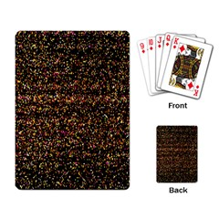 Pixel Pattern Colorful And Glowing Pixelated Playing Card by Simbadda