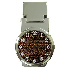 Pixel Pattern Colorful And Glowing Pixelated Money Clip Watches by Simbadda