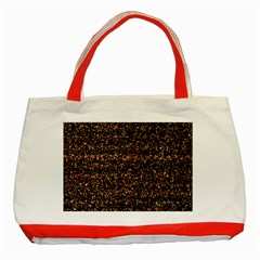 Pixel Pattern Colorful And Glowing Pixelated Classic Tote Bag (red) by Simbadda