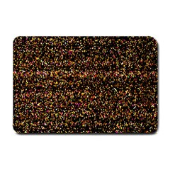 Pixel Pattern Colorful And Glowing Pixelated Small Doormat  by Simbadda