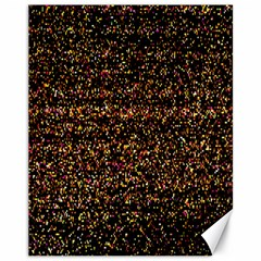 Pixel Pattern Colorful And Glowing Pixelated Canvas 11  X 14   by Simbadda