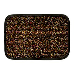 Pixel Pattern Colorful And Glowing Pixelated Netbook Case (Medium)  by Simbadda