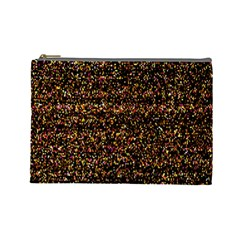 Pixel Pattern Colorful And Glowing Pixelated Cosmetic Bag (large)  by Simbadda
