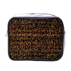 Pixel Pattern Colorful And Glowing Pixelated Mini Toiletries Bags by Simbadda