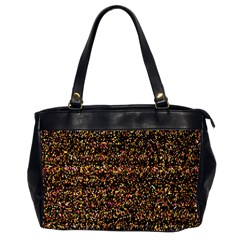 Pixel Pattern Colorful And Glowing Pixelated Office Handbags (2 Sides)  by Simbadda