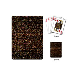 Pixel Pattern Colorful And Glowing Pixelated Playing Cards (mini)  by Simbadda