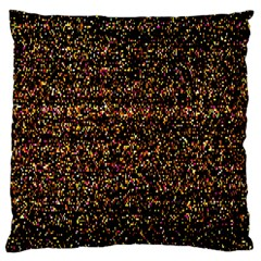 Pixel Pattern Colorful And Glowing Pixelated Large Cushion Case (one Side) by Simbadda