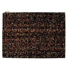 Pixel Pattern Colorful And Glowing Pixelated Cosmetic Bag (xxl)  by Simbadda
