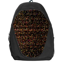 Pixel Pattern Colorful And Glowing Pixelated Backpack Bag by Simbadda