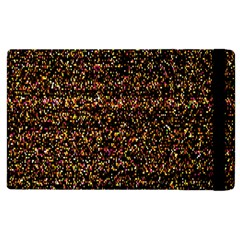 Pixel Pattern Colorful And Glowing Pixelated Apple Ipad 3/4 Flip Case by Simbadda