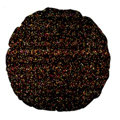 Pixel Pattern Colorful And Glowing Pixelated Large 18  Premium Round Cushions by Simbadda