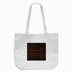 Pixel Pattern Colorful And Glowing Pixelated Tote Bag (white) by Simbadda