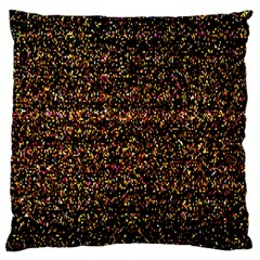 Pixel Pattern Colorful And Glowing Pixelated Large Flano Cushion Case (one Side) by Simbadda