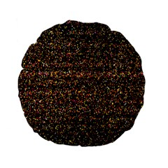 Pixel Pattern Colorful And Glowing Pixelated Standard 15  Premium Flano Round Cushions by Simbadda