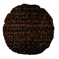 Pixel Pattern Colorful And Glowing Pixelated Large 18  Premium Flano Round Cushions by Simbadda