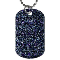 Pixel Colorful And Glowing Pixelated Pattern Dog Tag (two Sides) by Simbadda