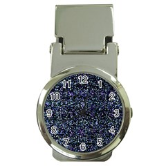 Pixel Colorful And Glowing Pixelated Pattern Money Clip Watches by Simbadda