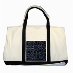 Pixel Colorful And Glowing Pixelated Pattern Two Tone Tote Bag by Simbadda