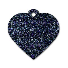 Pixel Colorful And Glowing Pixelated Pattern Dog Tag Heart (two Sides) by Simbadda