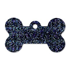 Pixel Colorful And Glowing Pixelated Pattern Dog Tag Bone (one Side) by Simbadda
