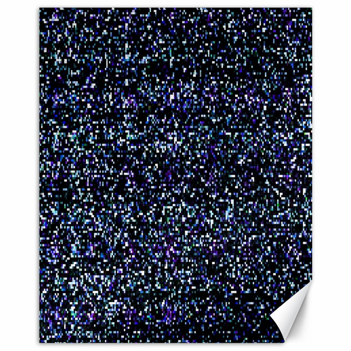 Pixel Colorful And Glowing Pixelated Pattern Canvas 11  x 14
