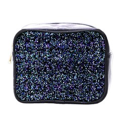 Pixel Colorful And Glowing Pixelated Pattern Mini Toiletries Bags by Simbadda