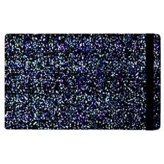 Pixel Colorful And Glowing Pixelated Pattern Apple Ipad 2 Flip Case by Simbadda