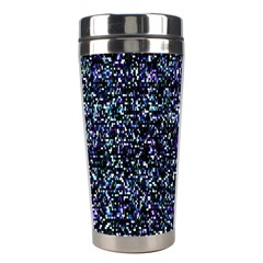 Pixel Colorful And Glowing Pixelated Pattern Stainless Steel Travel Tumblers