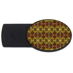 Seamless Symmetry Pattern Usb Flash Drive Oval (4 Gb) by Simbadda