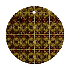 Seamless Symmetry Pattern Round Ornament (two Sides) by Simbadda