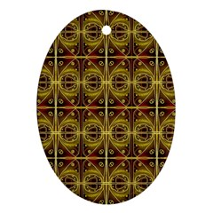 Seamless Symmetry Pattern Oval Ornament (two Sides) by Simbadda