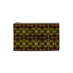 Seamless Symmetry Pattern Cosmetic Bag (small)  by Simbadda