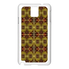 Seamless Symmetry Pattern Samsung Galaxy Note 3 N9005 Case (white) by Simbadda