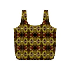 Seamless Symmetry Pattern Full Print Recycle Bags (s)  by Simbadda