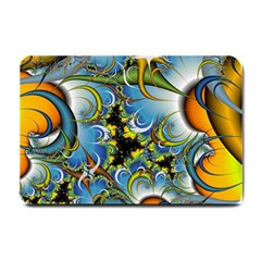 Fractal Background With Abstract Streak Shape Small Doormat  by Simbadda