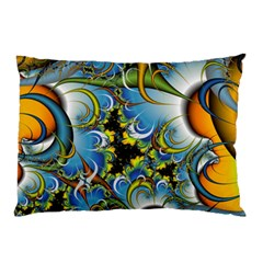Fractal Background With Abstract Streak Shape Pillow Case by Simbadda