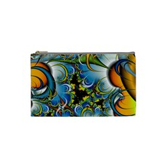Fractal Background With Abstract Streak Shape Cosmetic Bag (small)  by Simbadda