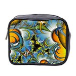 Fractal Background With Abstract Streak Shape Mini Toiletries Bag 2-Side Front