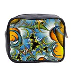 Fractal Background With Abstract Streak Shape Mini Toiletries Bag 2-Side Back