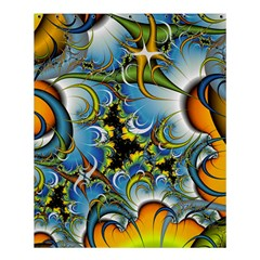 Fractal Background With Abstract Streak Shape Shower Curtain 60  X 72  (medium)  by Simbadda