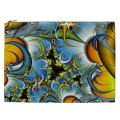 Fractal Background With Abstract Streak Shape Cosmetic Bag (xxl)  by Simbadda