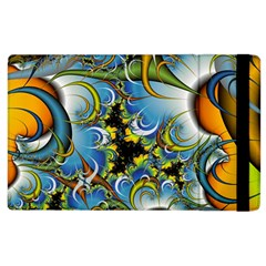 Fractal Background With Abstract Streak Shape Apple Ipad 3/4 Flip Case by Simbadda