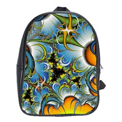 Fractal Background With Abstract Streak Shape School Bags (xl)  by Simbadda