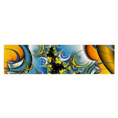 Fractal Background With Abstract Streak Shape Satin Scarf (oblong) by Simbadda