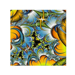 Fractal Background With Abstract Streak Shape Small Satin Scarf (square) by Simbadda