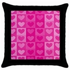 Pattern Throw Pillow Case (black) by Valentinaart