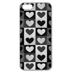 Pattern Apple Seamless iPhone 5 Case (Clear) Front
