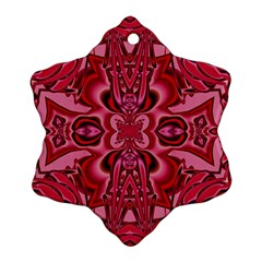 Secret Hearts Snowflake Ornament (two Sides) by Simbadda